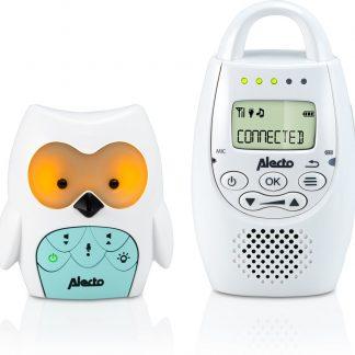 Alecto DBX-84 DECT Babyfoon uil | 100% storingsvrije verbinding en terugspreekfunctie | Wit