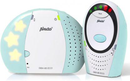 Alecto DBX-85 ECO MT ECO DECT babyfoon | 100% storingsvrije verbinding en ECO modus | Wit / Mint