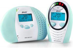 Alecto DBX-88 ECO MT Digitale ECO DECT babyfoon| 100% storingsvrije verbinding en ECO modus | Wit / Mint