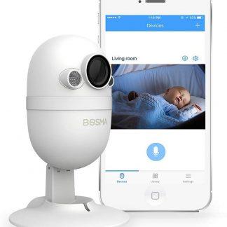 Babyfoon / beveiligingscamera Bosma - Babyfoon met camera en app - Digitaal met Nachtzicht / Full HD - Babyfoon / beveiligingscamera smartphone - Babyfoon / beveiligingscamera met opname functie