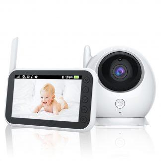 Babyfoon Met Camera |Beeldbabyfoon | LCD Scherm | 360 Graden | Meeluisteren | Praten | Nachtzicht | Temperatuur | Slaapliedjes