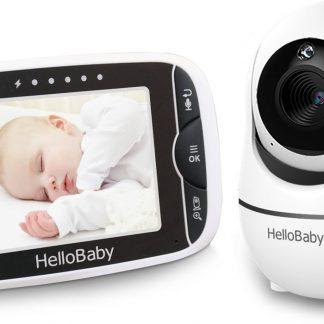 HelloBaby HB66 Babyfoon met camera - Op afstand beweegbaar - Nachtzicht - Terugspreekfunctie - Temperatuurcontrole - Slaapliedjes