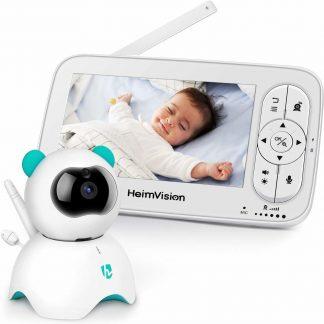HeimVision Babyfoon met camera | Babymonitor | 5 inch 720p HD | Nachtzicht | Alarm