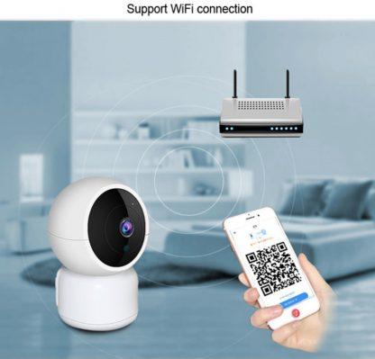 Babyfoon met cctv camera - 1920x1080 full hd - nachtzicht - draadloze wifi - camera met 2 weg audio - bewegingsdetectie