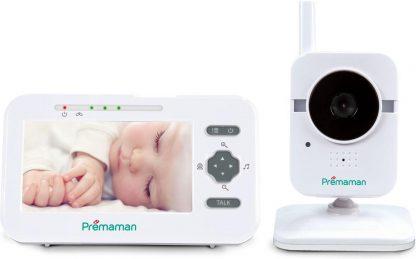 PREMAMAN P43428 Babyfoon met Camera - Groot scherm