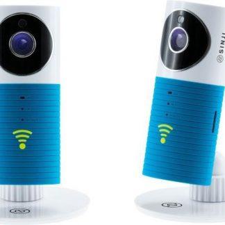 Sinji WiFi IP Beveiligingscamera - Babyfoon - Two way audio - Bewegingsdetectie - Infrarood Sensor - 90° Kijkhoek - Blauw