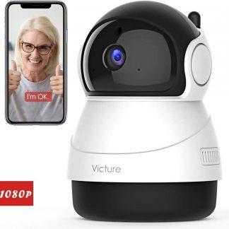 Victure 1080P FHD WiFi IP-camera Babyfoon met nachtzicht, bewegingsdetectie en 2-Way audio