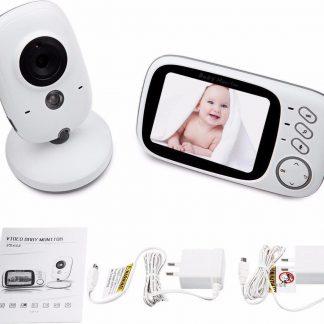 """Baby Monitor babyfoon met camera - Nachtzicht - Temperatuurmeter - 3.2"""" beeldscherm - 22 uur batterijduur"""