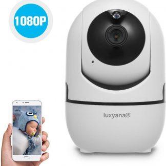 Luxyana® Babyfoon met Camera - Beveiligde Babyfoon Pro Series 1080p - Premium Veiligheid voor het Gezin - Wifi - HD Kwaliteit - Spraakfunctie - Bewegingsdetectie - Wit