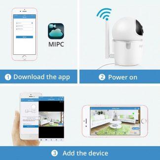 SANNCE FULLHD 1080p IP Camera Nachtzicht Met IR Filter Binnen 2MP Draadloze CCTV Bewakingscamera Baby Monitor Babyfoon
