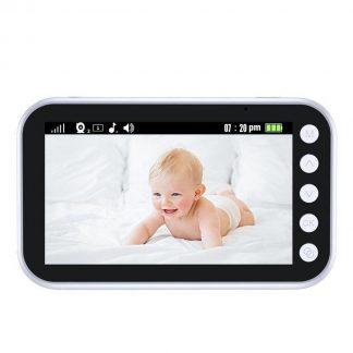Tinderela Babyfoon met camera en tweezijdige communicatie - Nachtzicht - Temperatuur weergave - Kleuren Display