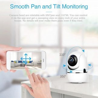 Babyfoon Camera, WiFi Security Camera, Motion en Geluid Detectie, Nachtvisie, iOS en Android App Besturing, SD Card en Cloud Storage, Draadloze Beveiligingscamera