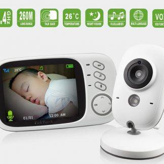 Babyfoon met camera - 3.2 inch Scherm - WIFI tot 260 meter - Veilige verbinding - Terugspreken - Temperatuur - Slaapliedjes - Nachtzicht - Merkproduct