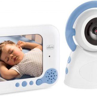 Chicco Babyfoon Video Deluxe 254 Wit/blauw 2-delig