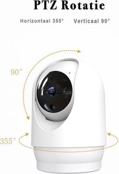 Daily Silvers BlockHouse Wifi Beveiliging Camera - Babyfoon - Veiligheid - Beveiliging - Nachtlens - 1080P - Full HD - Twee-weg Audio - Cloud Storage - Wit