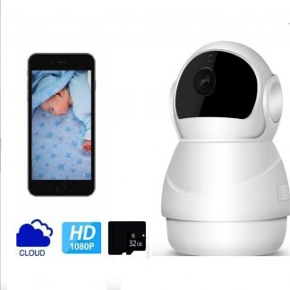 HARDLOPER | Babysafepro X8 - Babyfoon met camera 1080P FHD WiFi IP Beveiligingscamera met Bewegingsdetectie