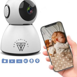 HD Wifi Babyfoon met Camera 107W1 - Bewakingscamera - iOS/Android App - Wit