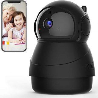 Slimme HD Wifi Babyfoon - Nachtzicht - Babyfoon Met App - Bewegingsmelding - Praten En Luisteren Via App - Bewakingscamera - Babyfoon Met Camera - Babyphone Wifi - Zwart