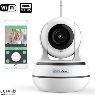 eLinkSmart WIFI Camera | Babyfoon met camera en app - Baby born | 1080P Full HD IP camera beveiliging | APP IOS Android | Beveiligingscamera binnen