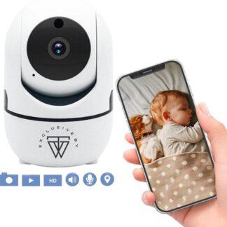 HD Wifi Babyfoon met Camera - Bewakingscamera - 1080p - iOS/Android App - Wit