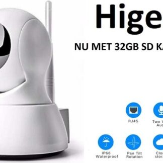 Slimme HD Wifi Babyfoon | Met App | Luisteren en Terugpraten | Bewakingscamera | Babyfoon Met Camera |Met 32GB SD kaart | Babyphone WiFi | Higestone