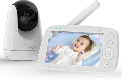 VAVA Beste Baby Camera , WIFI-Veilige Camera , Bewakingscamera , Babyfoon , Baby-Phone , Two-way-communicatie , Bewegingsdetectie , Nachtvisie , Werkt met IOS & Android, RED DOT Award 2019